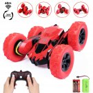 4WD RC Stunt Car - 2.4Ghz Double Sided 360° Spin&Flip Remote Control Racing Truck for Kids,Red