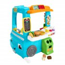 Fisher-Price Laugh and Learn Servin Up Fun Food Truck, Interactive Learning Toddler Role Play Toy,