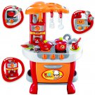 Kitchen Set with Adjustable Lights and Sounds Feature Pretend Play Kitchen