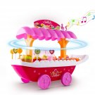 Toy Ice Cream Cart with Music and Flash Light, Kids pretent food Toy