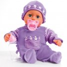 93800-Lila Function Doll, First Words, Interactive Baby, 24 Sounds, Multi Colour, 38 cm