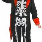 Magicoo Stylish Skeleton Costume for Kids Boys Halloween Black/White/Red