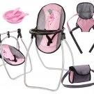63608AB 9-in-1 Vario Highchair Set, Soft Pink/Grey