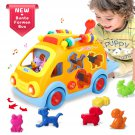 Toys 6-12 Months Musical Shape Sorting Bump & Go Action Bus