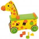 Bigjigs Toys Wooden Giraffe Ride On and Shape Sorter