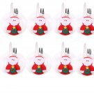 8pcs Xmas Set Cutlery Suit Decor Table Dinner Silverware Holders Pockets