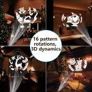 Christmas Light Projector LED Spotlight Landscape Light 3D Rotating