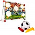 FOOTBALL SOCCER GOAL NET SET INDOOR OUTDOOR WITH BALL PUMP KIDS CHILDREN TARGET