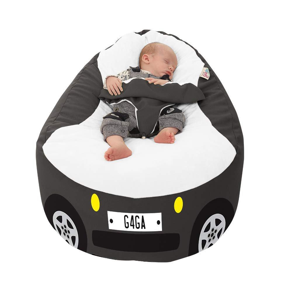 Racing Car Gaga+ Baby to Junior Beanbag (Charcoal)