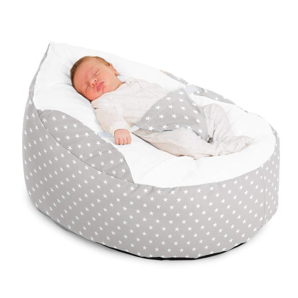 Luxury Cuddle Soft Stars Gaga Baby Bean Bag (Platinum)