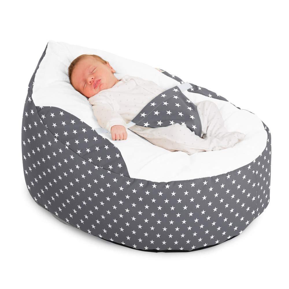 Luxury Cuddle Soft Stars Gaga Baby Bean Bag (Grey)