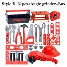 Kids Children Deluxe Drill Tools Box Set DIY Builders Building Construction Toy