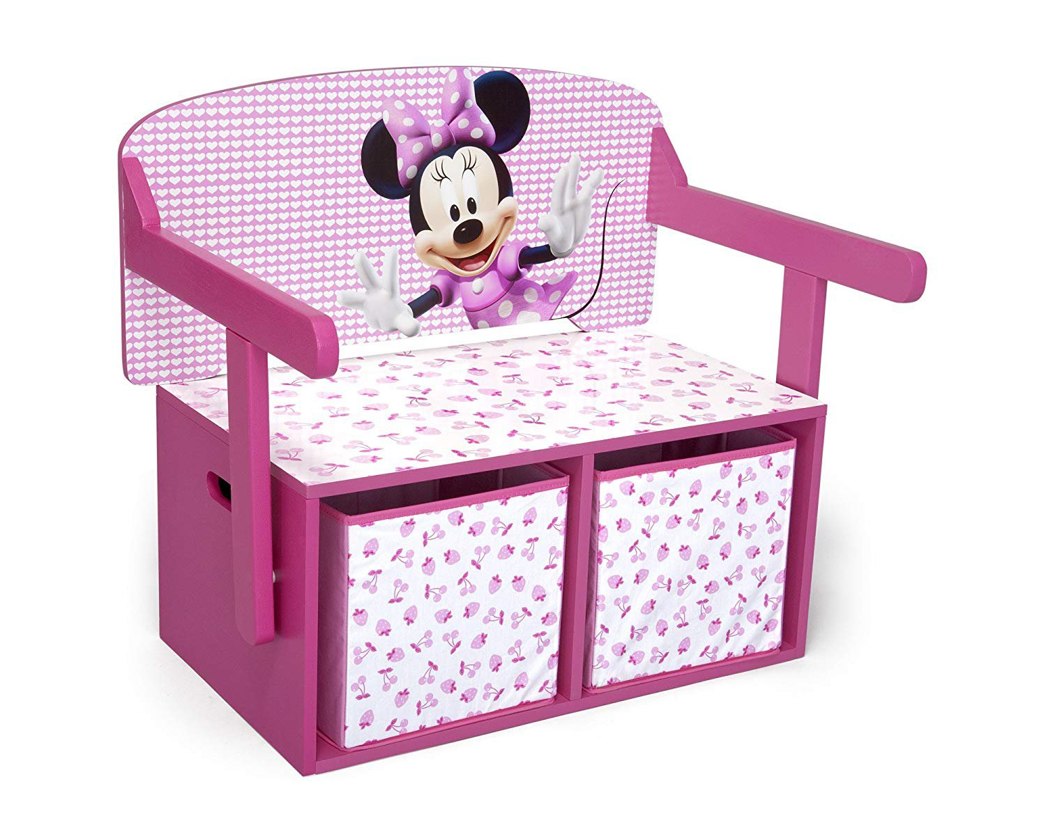 Disney Minnie Mouse 3 in 1 Storage Bench and Desk
