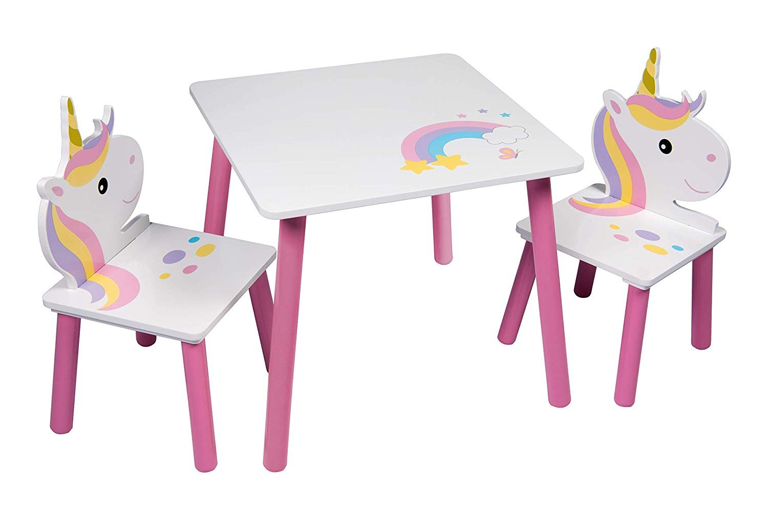 Table and 2 chairs Unicorn