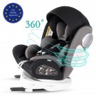 Bonio Baby Car Seat 360 Rotating Group 0+/1/2/3 (0-12 years) with ISOFIX & Top Tether Black