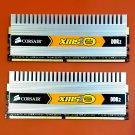 Lot of 2 x 2GB (4GB) Corsair CM2X2048-6400C5DHX XMS2-6400 2048MB 800MHZ Desktop Memory