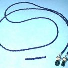 Cobalt Blue Glass Beaded Eyeglass Chain Leash Holder 24 in