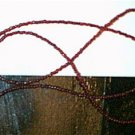 Red Glass Beaded Eyeglass Chain Leash Holder 24 in