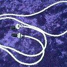 White Glass Beaded Eyeglass Chain Leash Holder 24 in