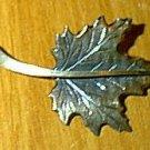 Beau Sterling Silver Leaf Pin Vintage ?