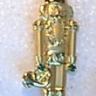 Gold & Rhinestone Toy Soldier Christmas Pin By J.J.