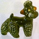Red Clay Pottery Black Poodle