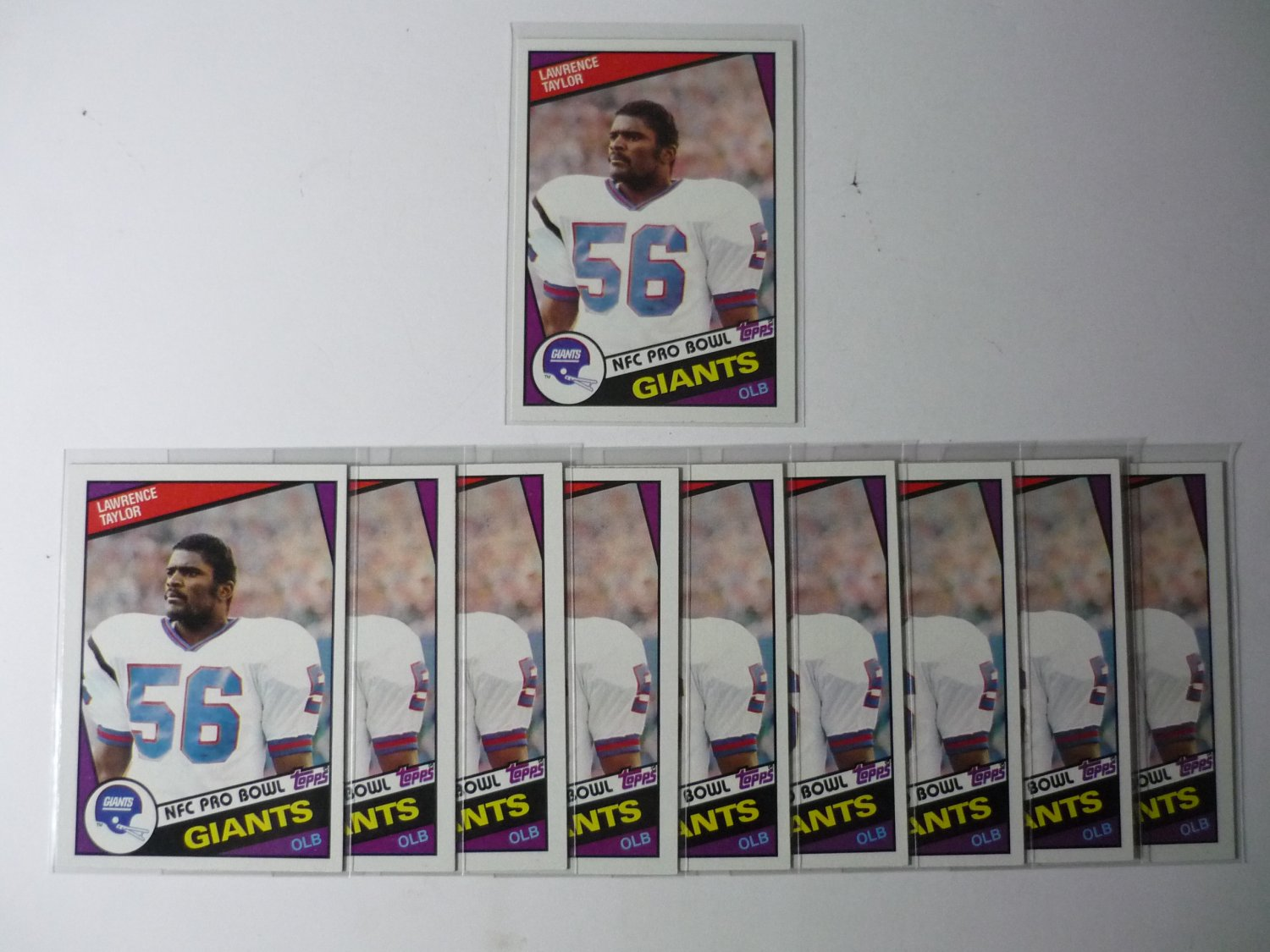 Lot of 10 1984 Topps Lawrence Taylor #321 NMMT