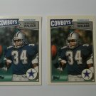 Lot of 2 1987 Topps UK American Herschel Walker #58 Rookie NRMT
