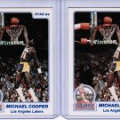Lot of 2 1984 Star Michael Cooper #2 Rookie NMMT
