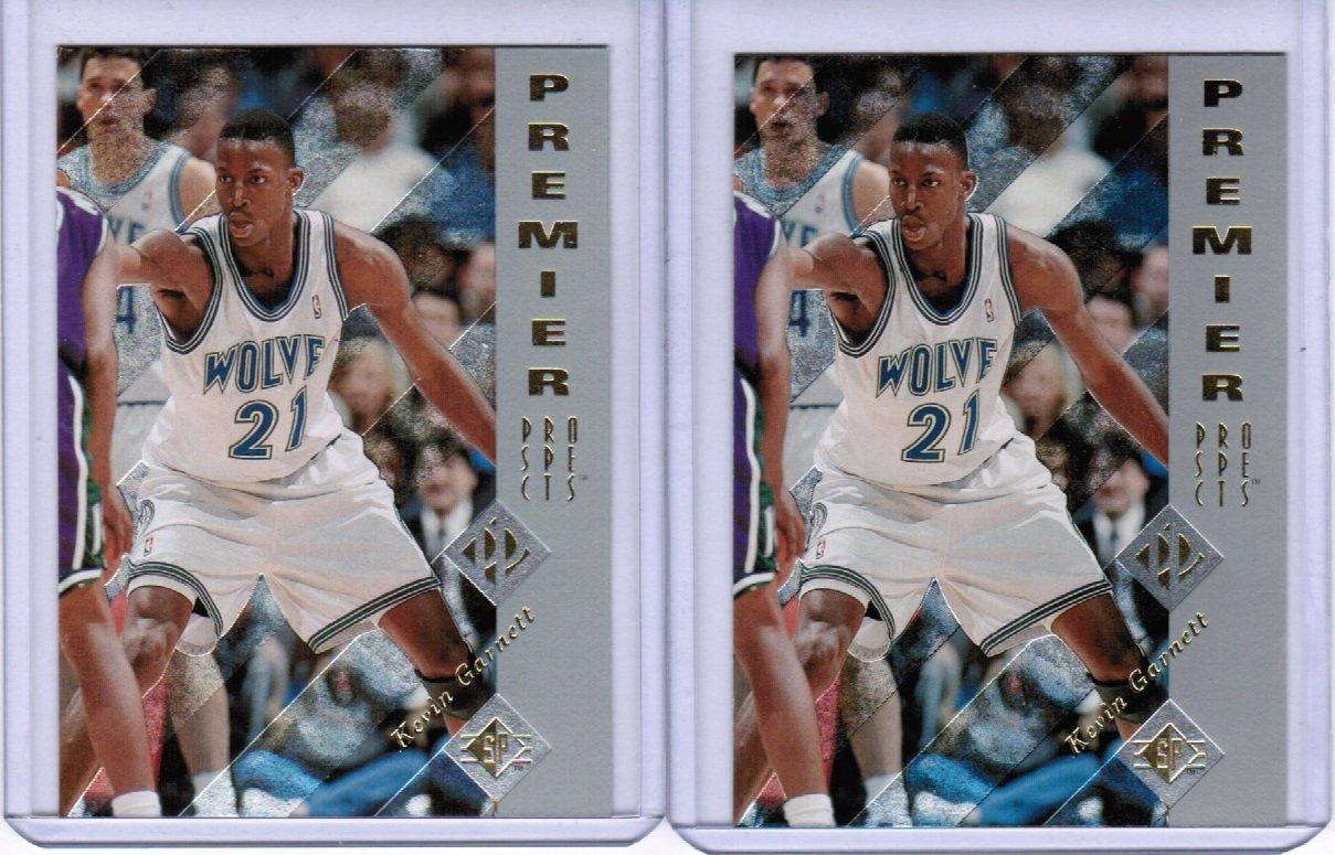 Lot of 2 1995 SP Authentic Kevin Garnett #159 Rookie NMMT