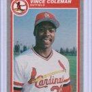 1985 Fleer Update Vince Coleman #U28 Rookie NMMT+