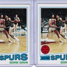Lot of 2 1977 Topps George Gervin #73 NRMT