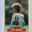 1980 Topps Phil Simms #225 Rookie NRMT