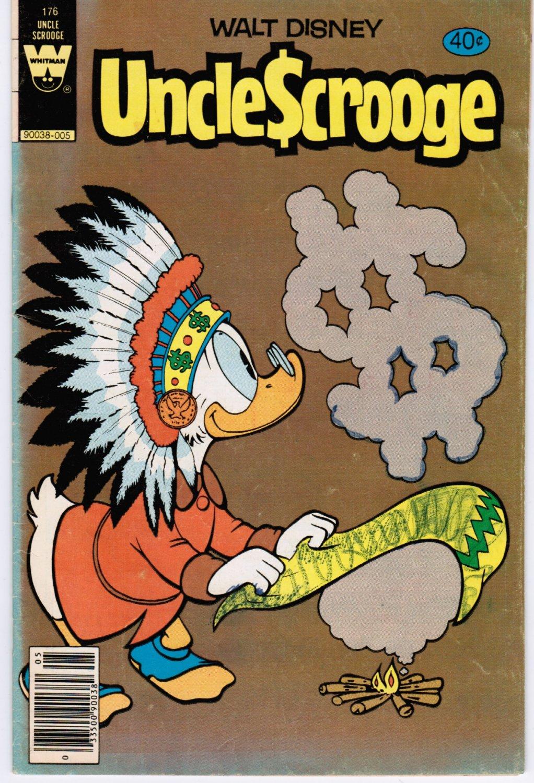 Uncle Scrooge #176 Walt Disney Whitman 60 Cent Comic Book