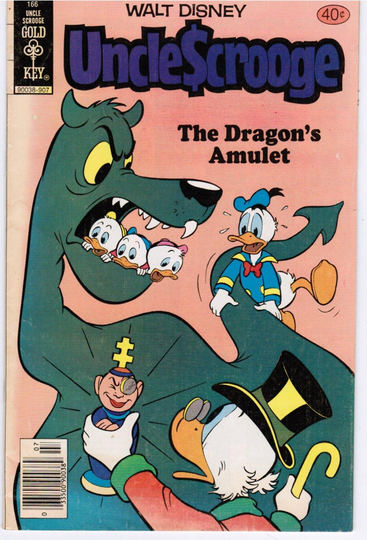Uncle Scrooge #166 Walt Disney Gold Key 40 Cent Comic Book