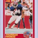 1989 Score Thurman Thomas #34 Rookie NMMT+