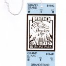 1990 Breeder's Cup Grandstand Full Unused Admission Ticket