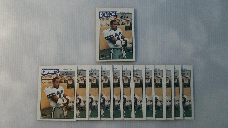 Lot of 20 1987 Topps Tony Dorsett #263 NMMT