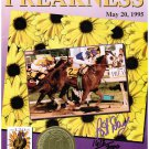 1995 The Preakness Horse Racing Program Pimlico Signed by Pat Day #'d 1612/2000