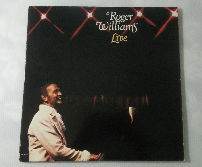 Roger Williams Live Vinyl Full Length LP Record MCA Easy Listening New Age