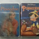 Lot of 2 Pinocchio Walt Disney VHS Masterpiece Movies