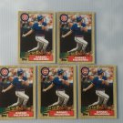 Lot of 5 1987 Topps Tiffany Rafael Palmeiro #634 NRMT