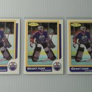 Lot of 3 1986 OPC Grant Fuhr #56 NRMT