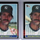 Lot of 2 1985 Donruss Don Mattingly #295 Baseball Cards