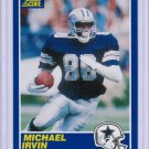1989 Score Michael Irvin #18 Rookie MINT