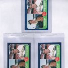 Lot of 3 1986 Fleer Jose Canseco #649 Rookie NMMT
