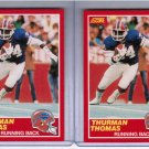 Lot of 2 1989 Score Thurman Thomas #211 Rookie NMMT+