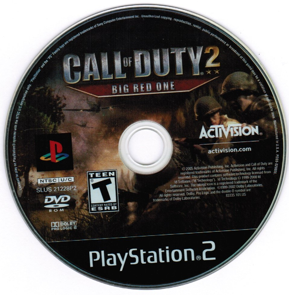 Call Of Duty 2 The Big Red One PS2 Playstation 2 Game