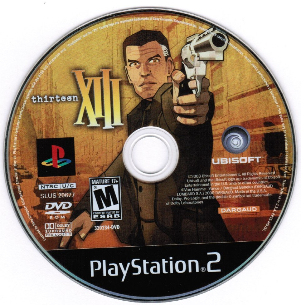 XIII Thirteen 13 PS2 Playstation 2 Game