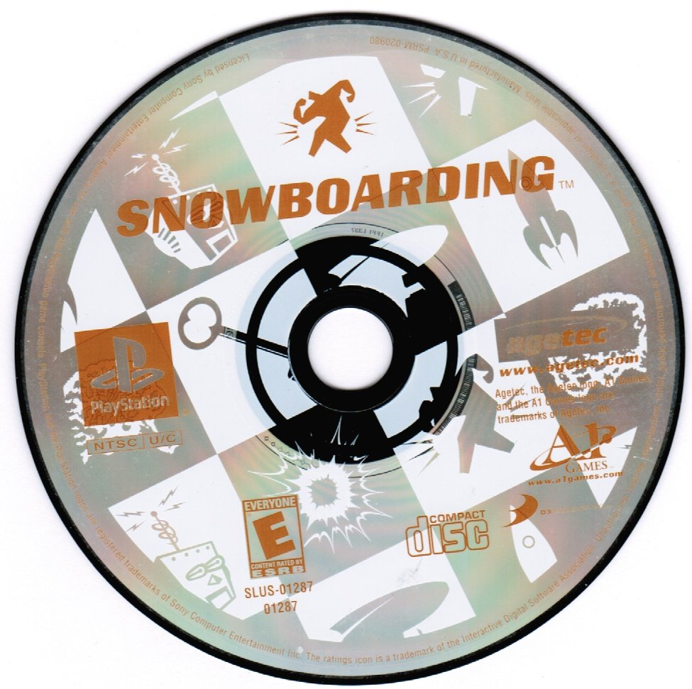 Snowboarding PS1 Playstation 1 Game
